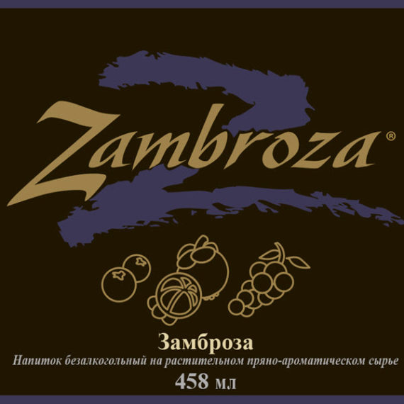 Etiketka 2 Napitok Bad Zambroza kompanii NSP