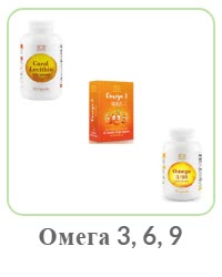 Биологически активные добавки с Омега кислотами 3-6-9 Coral Club