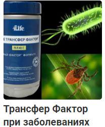 Биодобавка Трансфер Фактор 4Life при различных заболеваниях, дозировки, рекомендации