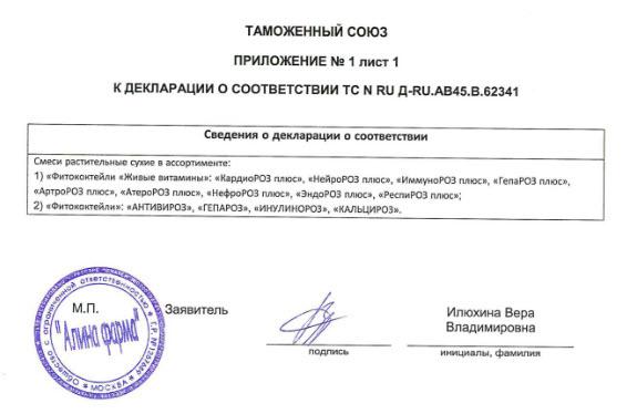 Prilochenie Deklaraciya Hranenie Inulinoroz Fitokoktejli Rodnik Zdorovya