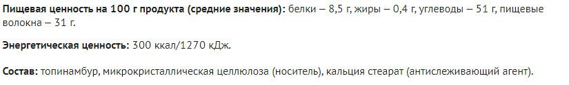 Sostav Inulinoroz Fitokoktejli Rodnik Zdorovya