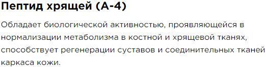 Peptid Hryachei A4 Sostav Peptidnyj kompleks 13 dlya kozhi