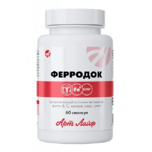 Bad FerroDok kompleks vitaminov mineralov ArtLajf